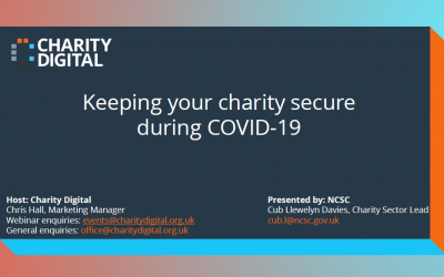 Charity Digital: Keeping your charity secure during COVID-19